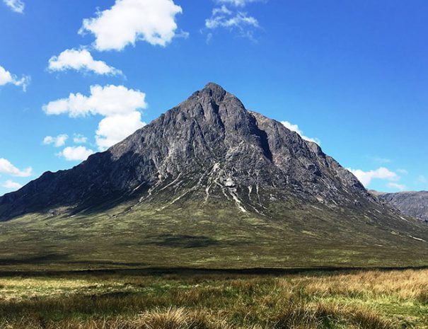 Landscape view of a Cuillin - a range of rocky monuntains located on the Isle of Skye